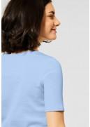 Cecil Basic T-shirt med rund hals