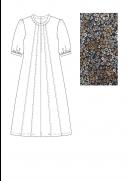 INFRONT småblomstret kjole